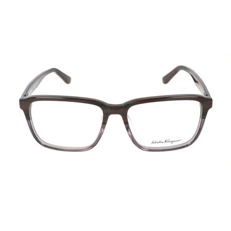 Men's SF2738 Optical Frames // Dark Brown + Horn Gray (56mm)