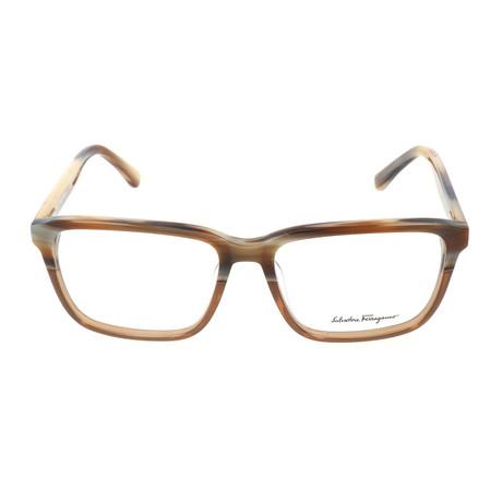 Men's SF2738 217 Optical Frames // Brown Horn Cognac (54mm)