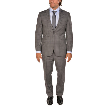 Bresciani // Modern Fit Suit // Checkered Grey (US: 36S)