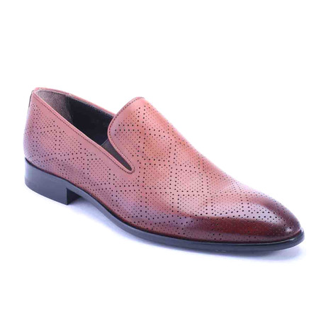 Diamond Perforated Loafer // Tobacco (Euro: 39)