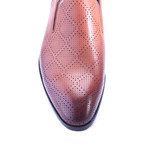 Diamond Perforated Loafer // Tobacco (Euro: 45)