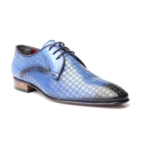 Burnished Toe Grid Derby // Blue (Euro: 39)