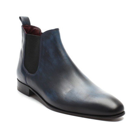 Burnished Chelsea Boot // Dark Blue (Euro: 39)