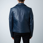 Mason + Cooper Ethan Leather Jacket // Navy (S)