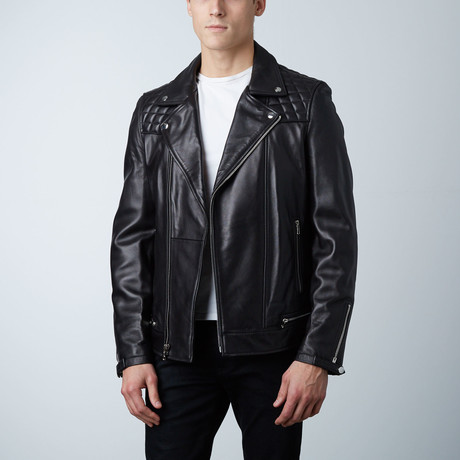 Mason + Cooper Astor Leather Jacket // Black (S)