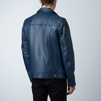 Mason + Cooper Astor Leather Jacket // Navy (S)