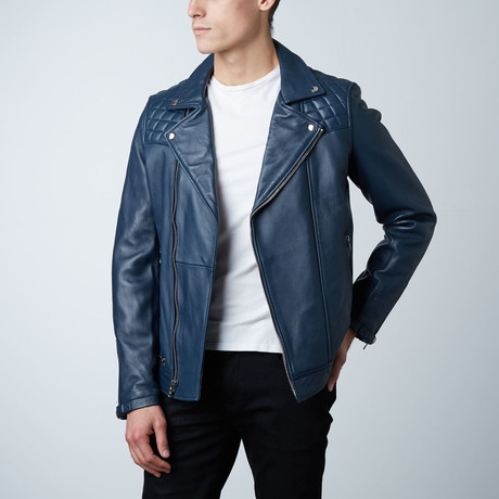 Mason + Cooper // Astor Leather Jacket // Navy (S)