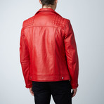 Mason + Cooper Astor Leather Jacket // Red (S)
