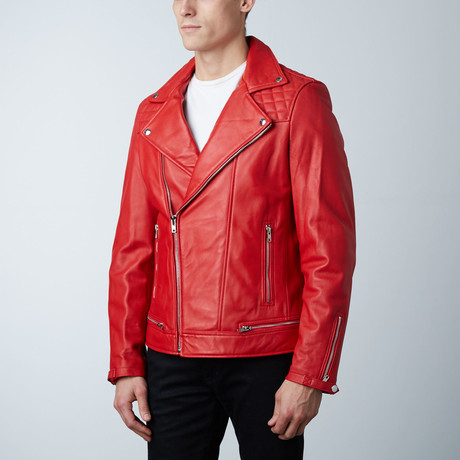 Mason + Cooper // Astor Leather Jacket // Red (S)