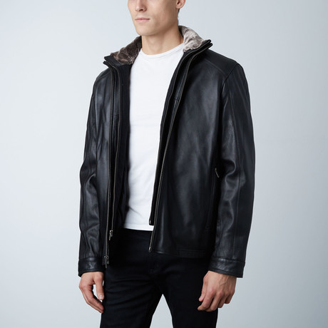 Mason + Cooper // Sage Leather Jacket // Black (S)