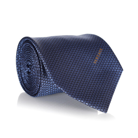 Honeycomb Tie // Navy + Black