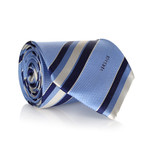 Textured Stripe Tie // Light Blue + Navy