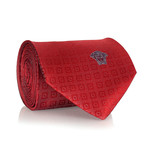 Circle Square Tie // Red + White