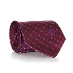 Dotted Check Tie // Violet + Purple