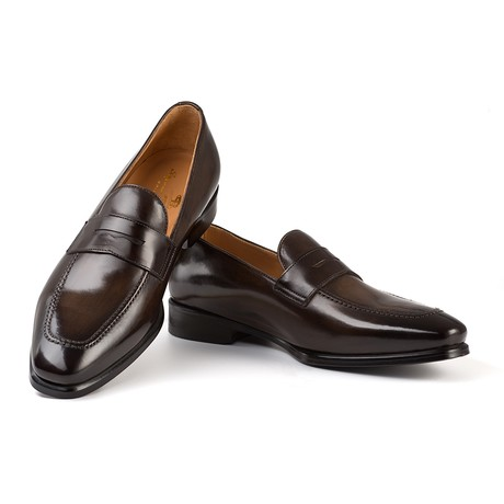 Picasso Penny Loafer // Dark Brown (UK: 6)