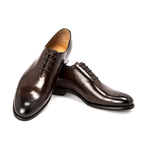 Leonardo Dress Shoe // Dark Brown (UK: 6)