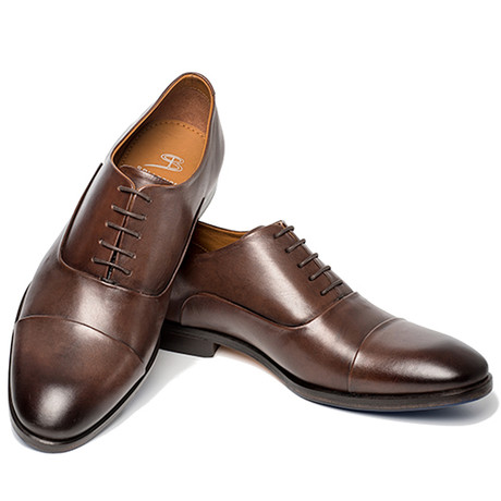 Broker Dress Shoe // Dark Black (UK: 6)