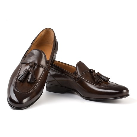 Senna Tassel Loafer // Dark Brown (UK: 6)