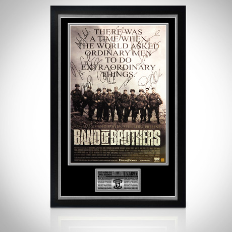 Band Of Brothers // Cast Hand-Signed Poster // Custom Frame