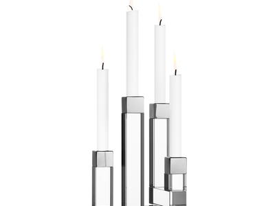 Photo of Orrefors Swedish Serveware Chimney Candleholder (2 Arms) by Touch Of Modern