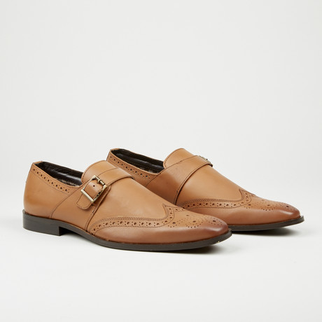 Monk Strap Dress Shoe // Brown (Euro: 40)