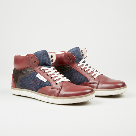 High-Top Sneaker // Red + Brown (Euro: 40)
