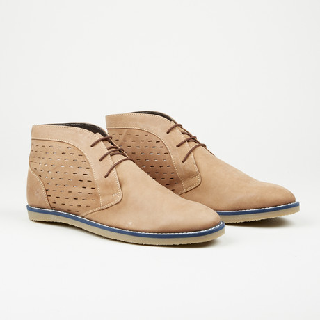 Perforated Ankle Boot // Tan (Euro: 40)