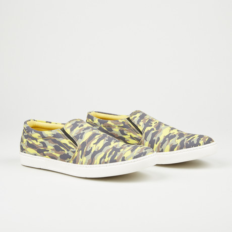 Printed Slip-On // Yellow Camo (Euro: 40)
