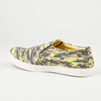 Printed Slip-On // Yellow Camo (Euro: 44)