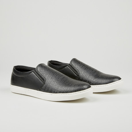Alligator Texture Slip-On // Black (Euro: 40)