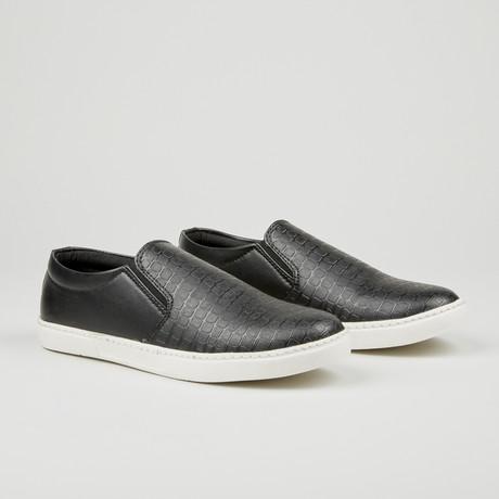 Alligator Texture Slip-On // Black (Euro: 40)