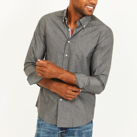 Roger Button-Up Shirt // Gray (S)