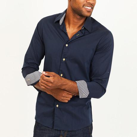 James Button-Up Shirt // Navy (S)