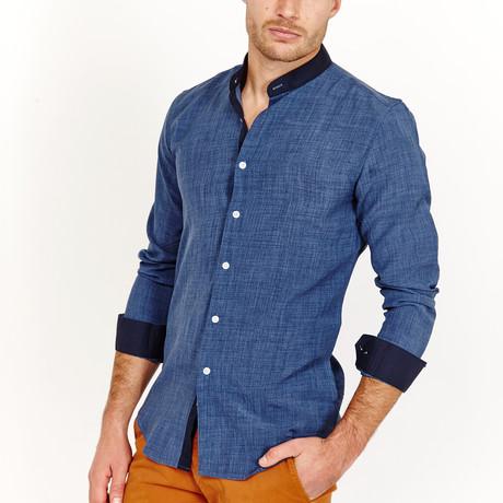 Quentin Button-Up Shirt // Blue (S)