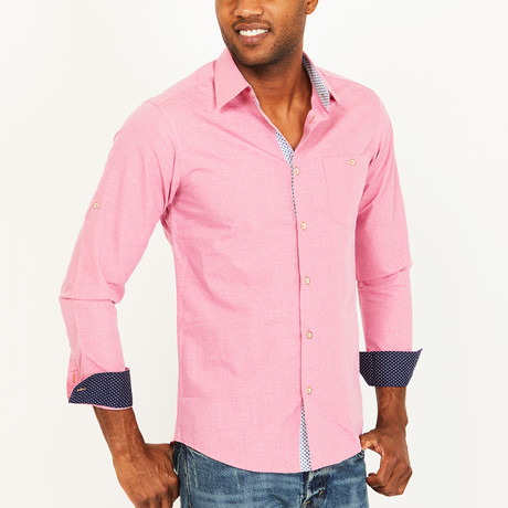 Henry Slim Fit Button-Down // Chalk Pink (S)