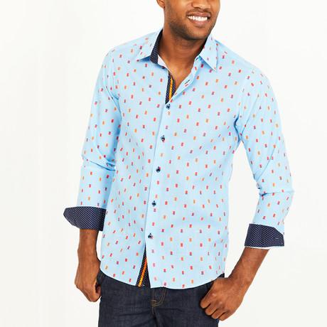 Wayne Button-Up Shirt // Sky Blue + Orange (S)