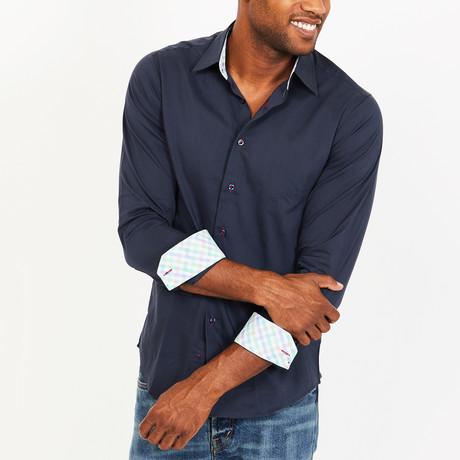 Robert Button-Up Shirt // Navy (S)