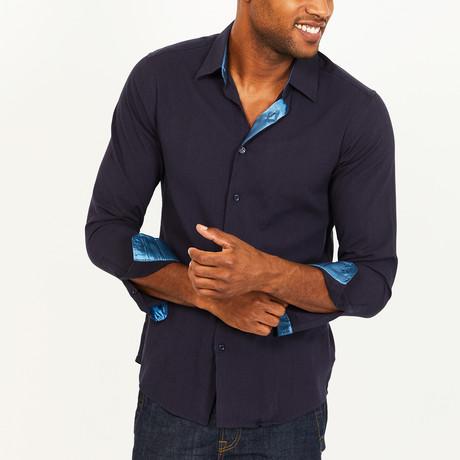 Paul Button-Up Shirt // Navy (S)