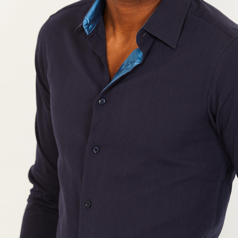 Paul Button Up Shirt Navy 2xl St Lynn Touch Of