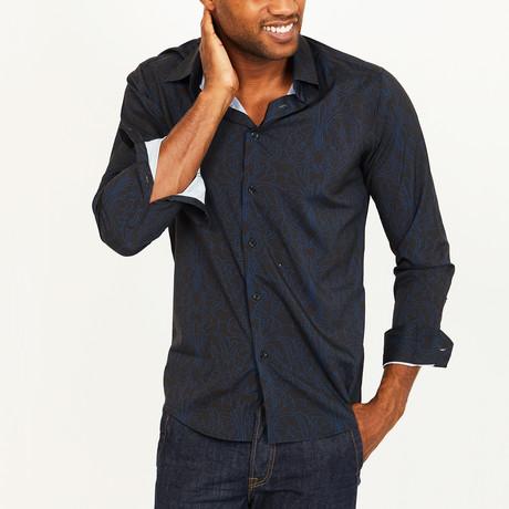 Hubert Button-Up Shirt // Black + Navy (S)