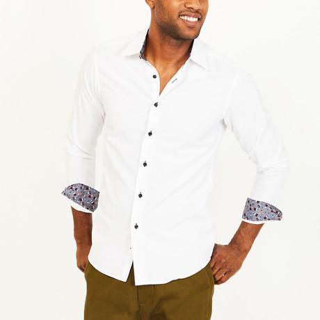 Mile Slim Fit Button-Down // White (S)
