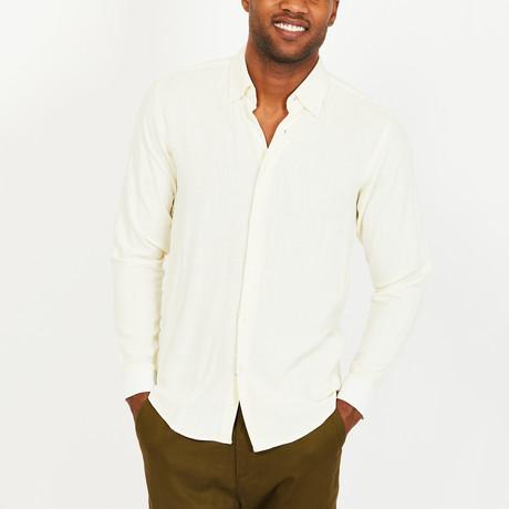 Skyler Button-Up Shirt // Cream (S)