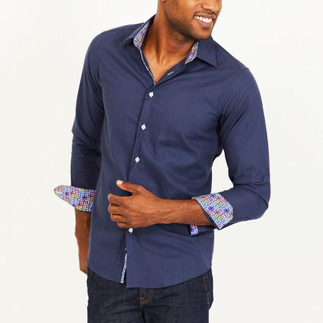 Walker Slim Fit Button-Down // Deep Blue (S)