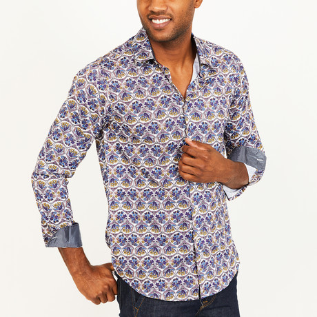 Grant Button-Up Shirt // Purple (S)