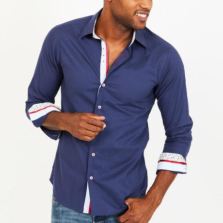 Joseph Button-Up Shirt // Blue (S)