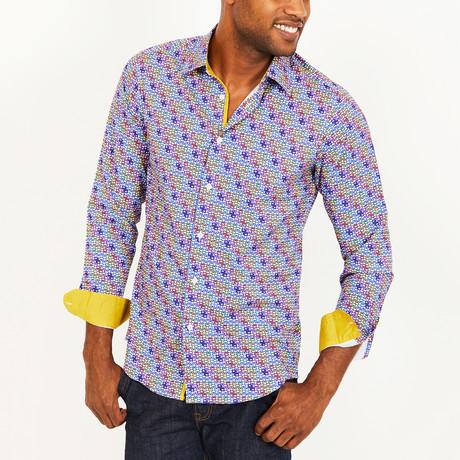 Preston Slim Fit Geometric Button-Down // Multicolor (S)