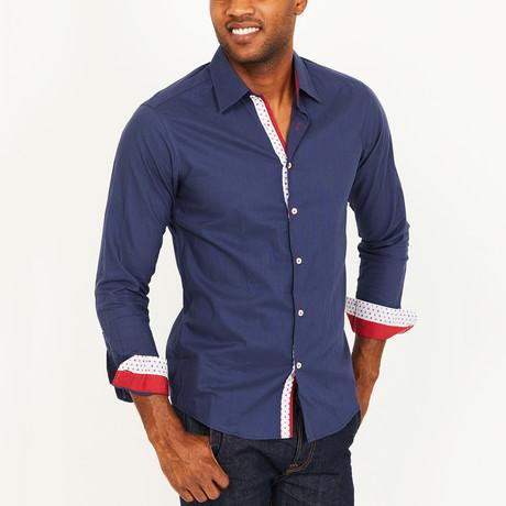 Parker Slim Fit Button-Down // Blue (S)