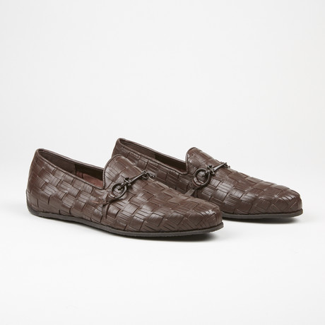 Woven Buckle Loafer // Brown (US: 6)