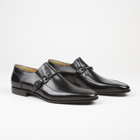 Leather Buckle Loafer // Black (US: 7)