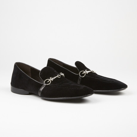 Velvet Buckle Loafer // Black (US: 6)